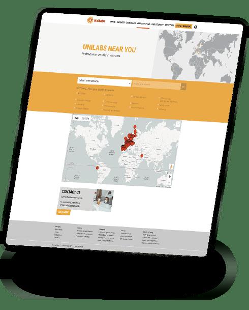 Unilabs - Map