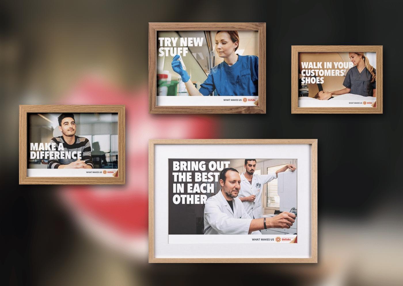 Unilabs - We Care Big Frames