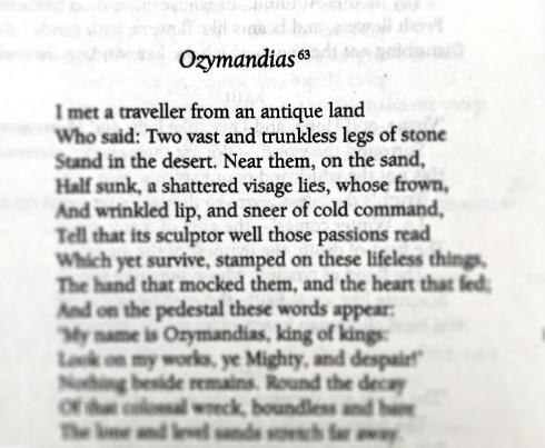 Stuff We Love - Ozymandias