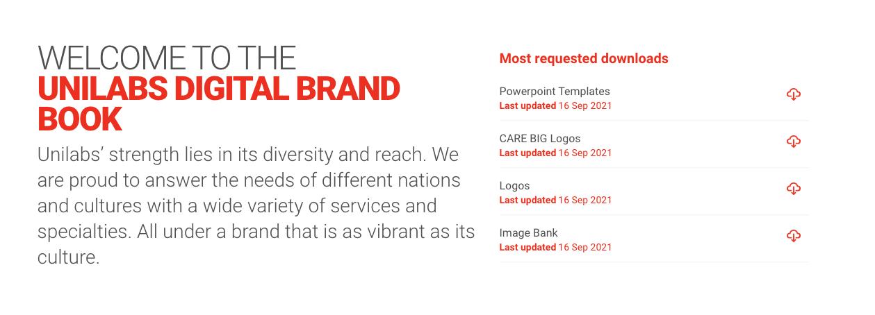 Unilabs Brandbook Downloads
